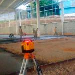 Nivelamento a laser de piso de concreto