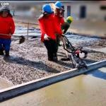 Sarrafeamento de piso de concreto